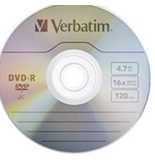 Verbatim DVD-R 4.7GB 16X with Branded Surface - 10pk Bulk Box, Pack of 10, Minimum Qty. 6 - 97957