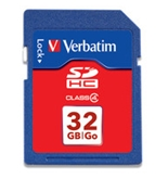 Verbatim 32GB SDHC Memory Card, Class 4,Minimum Qty. 4 -97990