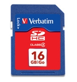 Verbatim 16GB SDHC Memory Card, Class 4,Minimum Qty. 4 -98006