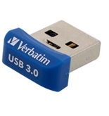 Verbatim 32GB Store 'n' Stay Nano USB 3.0 Flash Drive - Blue,Minimum Qty. 4 -98710