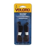 Velcro Velstrap Cinch Straps, 18 x 1 Inches, Black, 2 Pack (90107)