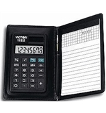 Victor Model 1122 8-Digit Compact Calculator with Portfolio & Pen