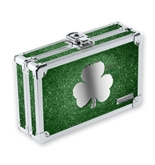 Pencil Box Green Bling with Shamrock - Green Bling - Vaultz - VZ00160