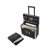 Locking Mobile Business Case, Legal, Black - Black - Vaultz - VZ00194