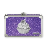 Vaultz Locking Supply Box, Purple Bling Cupcake - VZ03605