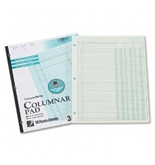 Wilson Jones ColumnWrite Columnar Pad, 11 x 8.5 Inch Size, Ruled Both Sides Alike, 41 Lines per Page