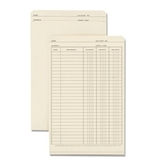 Wilson Jones Ledger Folder, 19.5 x 6 Inches, Manila, 100 Folders Per Box (W700-04)