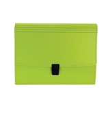 Wilson Jones Resource Recycled Durable Hinge Expanding 7 Pocket Filer, Green (38205)