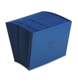 Wilson Jones WCCC17A-BL Colorlife Recycled (50%) Expanding File without Flap, Letter Size, 18- Expansion, Dark Blue