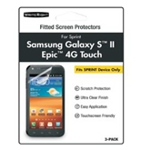 WriteRight 9260701 Screen Protectors for Samsung Galaxy S II/Epic 4G Touch for Sprint - 3 Pack - Retail Packaging - Clear