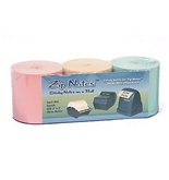 Zip Notes Note Refill Roll, 150 Feet, Tan/Pink/Blue, 3 Pack (0099)