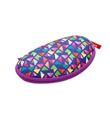Glasses Case, Purple Triangles