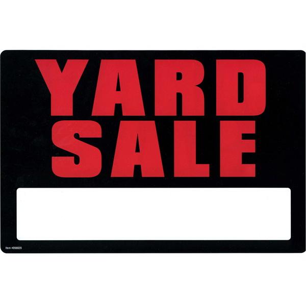 Garvey Printed Plastic Sign 098020 Garage Yard Sale 2 Sided