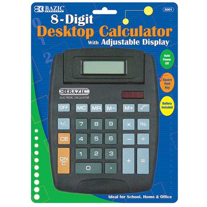 Busicom Calculator8 digit compact desktop calculator with a raised display