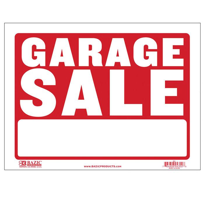 Bazic 12 X 16 Garage Sale Sign