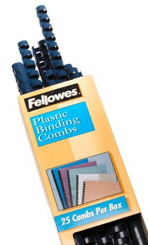 Fellowes Wire Binding Spines 5255201 25 Pack 5//16 Inch Diameter 50 Sheets Black