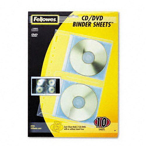 Fellowes Vinyl CD/DVD Refill Sheets