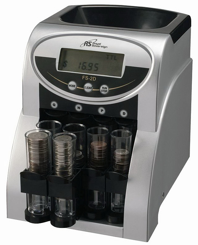 Royal sovereign royal sovereign fs 2d electric two row coin sorter - Sorting coin bank ...