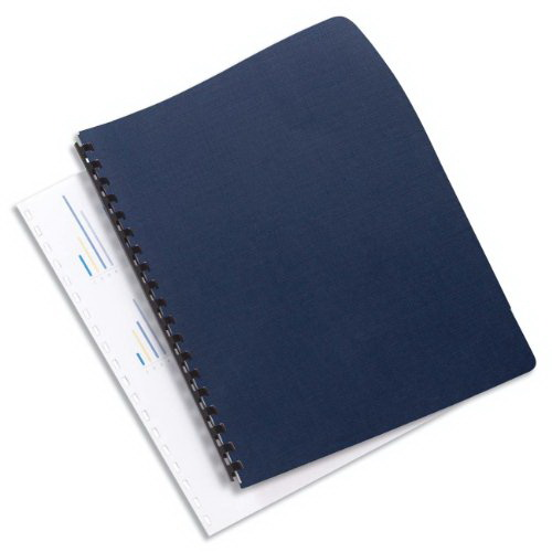 GBC Binding Cover, Linen Weave Texture Paper, 8.75 X 11.25