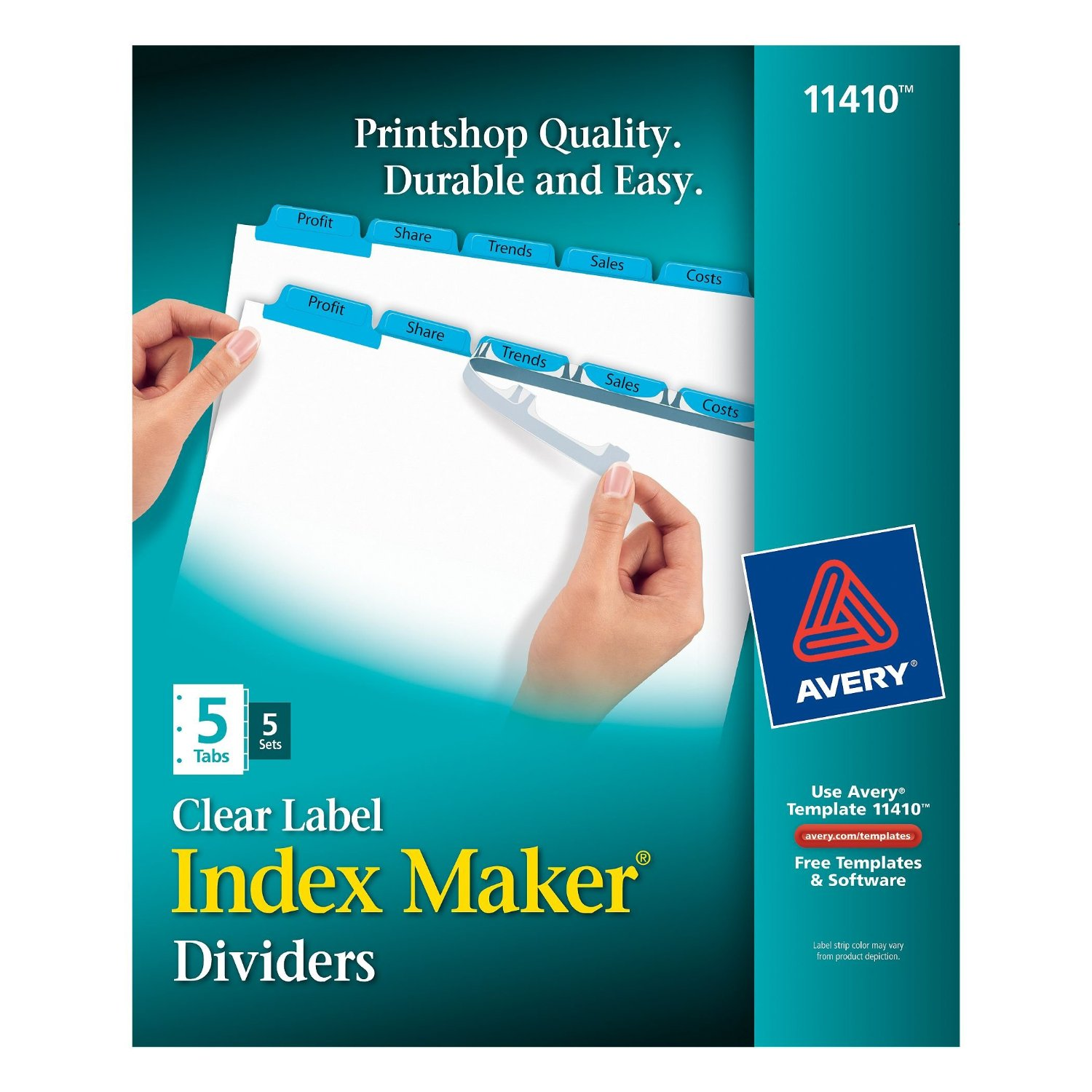 avery index maker clear label dividers easy apply label With avery index maker clear label dividers 5 tab