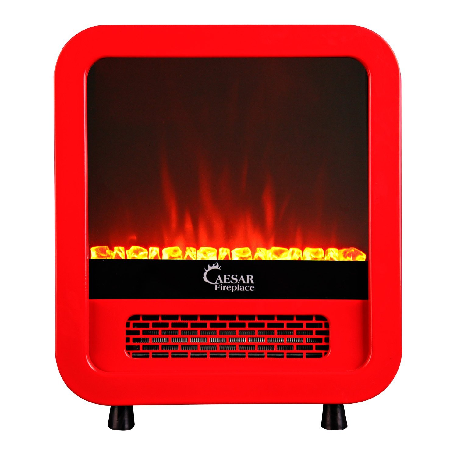 Caesar Hardware Electric Fireplace Room Heater Red