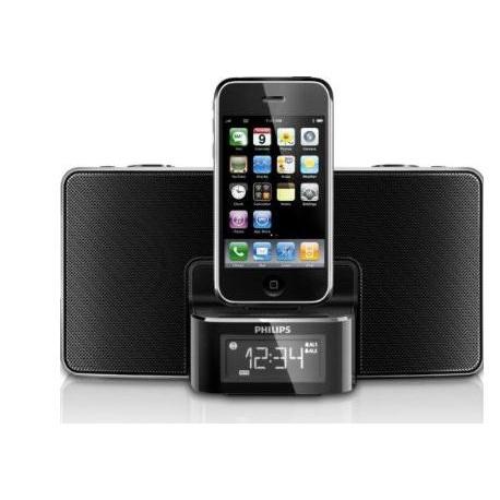 philips dc220 37 30 pin ipod iphone alarm clock speaker dock. Black Bedroom Furniture Sets. Home Design Ideas
