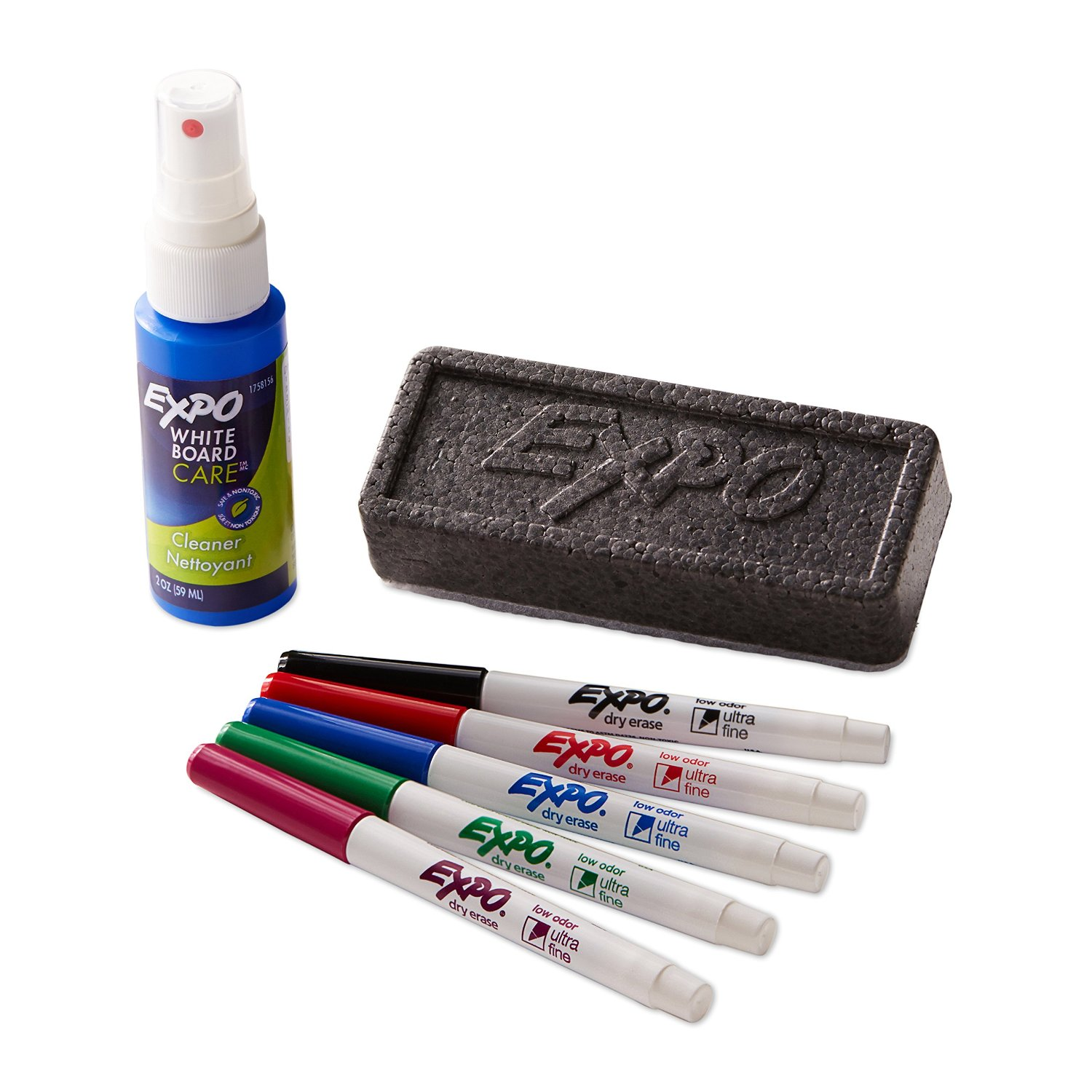 expo low odor ultra fine dry erase marker starter set. Black Bedroom Furniture Sets. Home Design Ideas