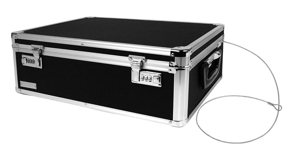 vaultz locking storage box 6 x 18 x 13 inches. Black Bedroom Furniture Sets. Home Design Ideas