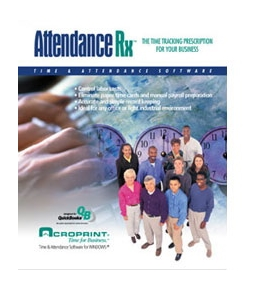 Acroprint Attendance Rx Network Software - 100 Emp
