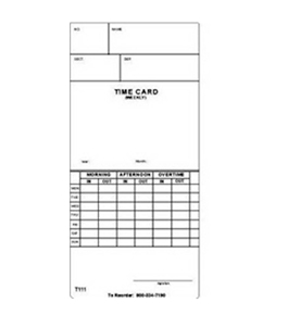 Acroprint Weekly Time Cards 1000 Pack