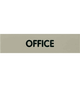 Garvey Engraved Style Plastic Signs 098003 Office - Grey