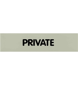 Garvey Engraved Style Plastic Signs 098004 Private - Grey