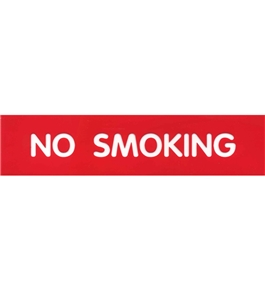 Garvey Engraved Style Plastic Signs 098007 No Smoking - Red