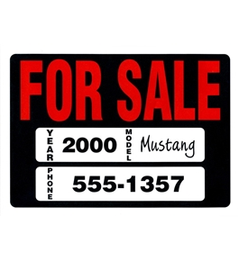 Garvey Sign 098025 Vehicle For Sale Kit