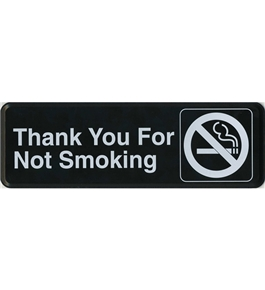 Garvey ADA and Contemporary Signs 098038 Thank You 4 Not Smoking