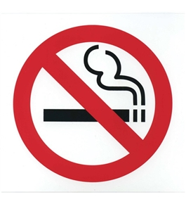 Garvey Printed Plastic Sign 098044 No Smoking
