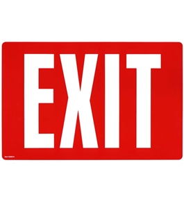 Garvey Printed Plastic Sign 098052 Exit Glow In Dark