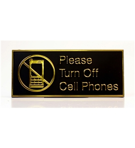 Garvey ADA and Contemporary Signs 098064 Please Turn Off Cell