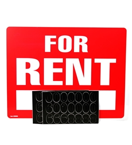 Garvey Sign 098065 For Rent Kit with Phone