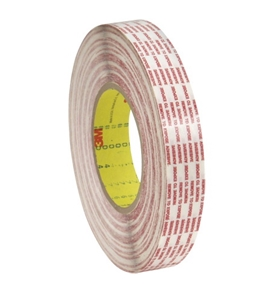 "1"" x 540 yds. 3M - 476XL Double Sided Extended Liner Tape (6 Per Case)"