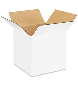 "10"" x 10"" x 10"" White Corrugated Boxes (Bundle of 25)"