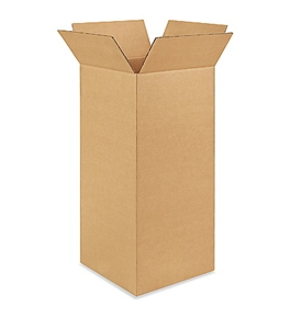 "10"" x 10"" x 24"" Tall Corrugated Boxes (Bundle of 25)"
