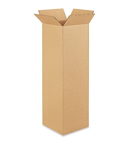 "10"" x 10"" x 36"" Tall Corrugated Boxes (Bundle of 25)"