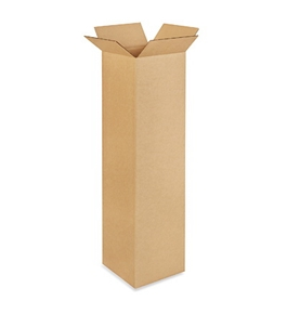"10"" x 10"" x 38"" Tall Corrugated Boxes (Bundle of 25)"