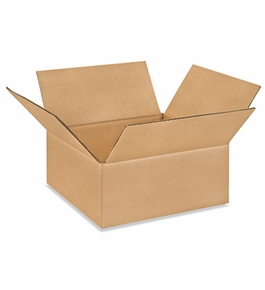"10"" x 10"" x 4"" Flat Corrugated Boxes (Bundle of 25)"