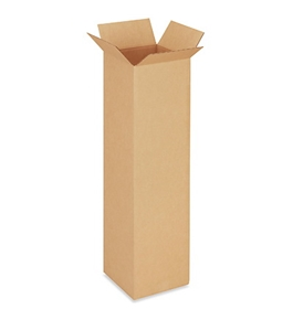 "10"" x 10"" x 40"" Tall Corrugated Boxes (Bundle of 25)"