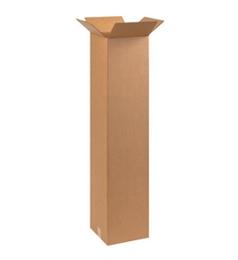"10"" x 10"" x 48"" Tall Corrugated Boxes (Bundle of 20)"