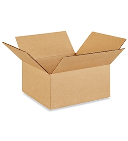 "10"" x 10"" x 5"" Flat Corrugated Boxes (Bundle of 25)"