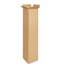 "10"" x 10"" x 60"" Tall Corrugated Boxes (Bundle of 15)"