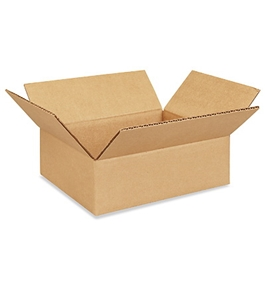 "10"" x 8"" x 3"" Flat Corrugated Boxes (Bundle of 25)"